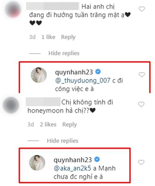 Quỳnh Anh tiết lộ lý do sau gần 1 tháng lấy Duy Mạnh vẫn chưa được đi trăng mật-2
