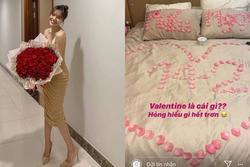 Lộ căn phòng lãng mạn, trải đầy hoa hồng của Lan Ngọc - Chi Dân mừng ngày Valentine?