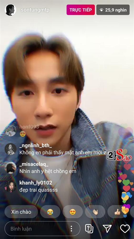 Sơn Tùng bấm nhầm hiệu ứng trang điểm khi livestream, dân mạng muốn cứu anh ấy mà không được-1