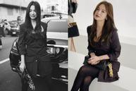 Song Hye Kyo hút ống kính khi dự Tuần lễ thời trang Milan