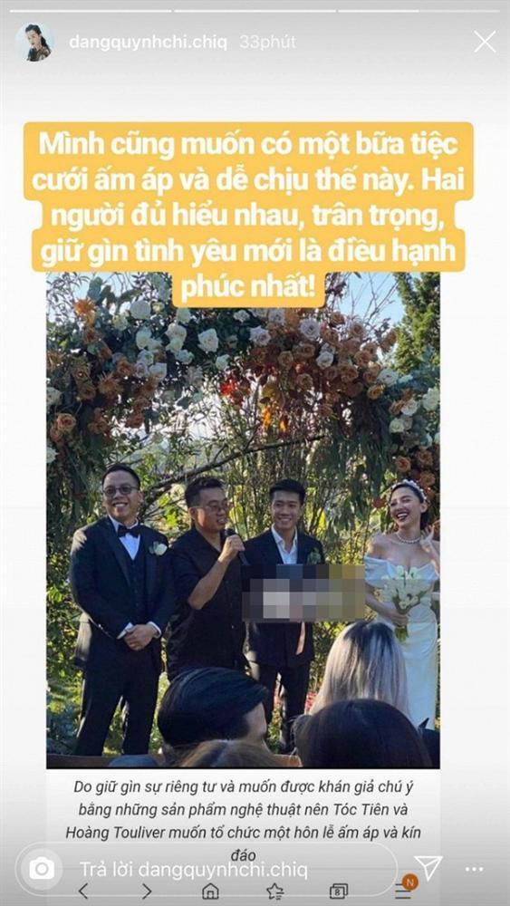 Sau tin đồn rạn nứt tình cảm với bạn đồng giới, MC Quỳnh Chi bất ngờ mong muốn có một đám cưới ấm áp như Tóc Tiên-2