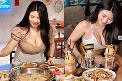 Không mặc nội y chụp ảnh review đồ ăn, vòng 1 của cô gái làm ai nhìn cũng 'ngộp thở'