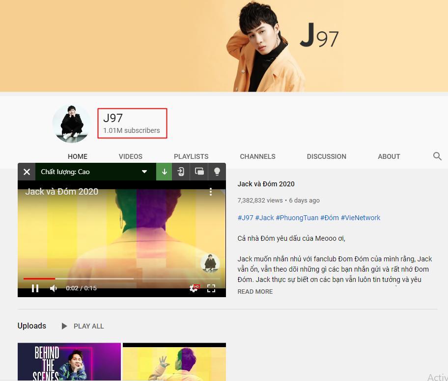 Jack xuất sắc rước vàng nhờ kênh Youtube đạt 1 triệu lượt theo dõi nhanh nhất Việt Nam-2