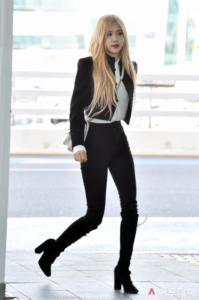 Rosé (BlackPink) mặc áo khoác hơn 100 triệu đồng ra sân bay-3