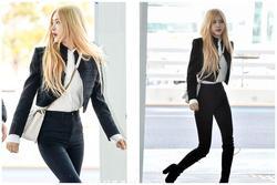 Rosé (BlackPink) mặc áo khoác hơn 100 triệu đồng ra sân bay