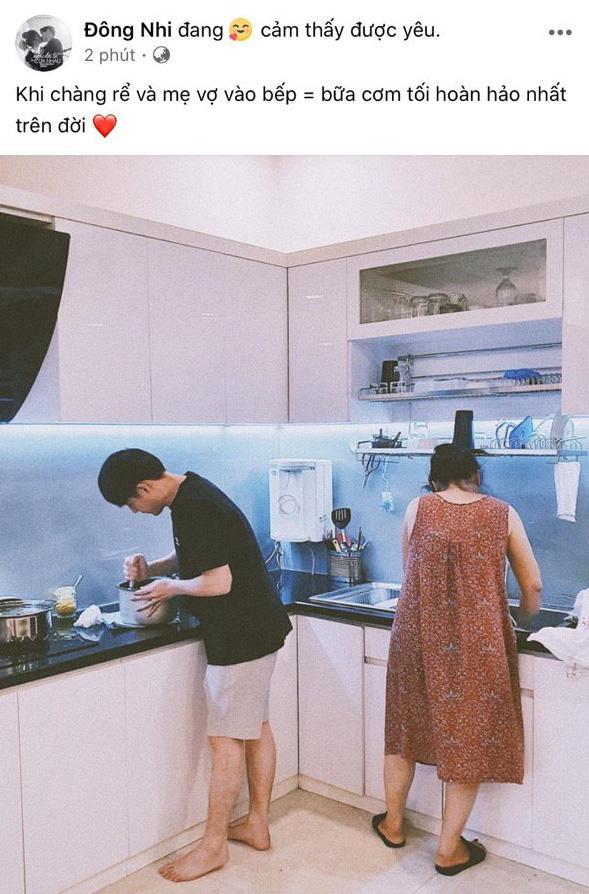 Ông Cao Thắng đúng chuẩn ông chồng kiểu mẫu: Vào bếp nấu ăn, chưa biết kết quả ra sao nhưng đã ghi điểm bởi độ chiều vợ-1