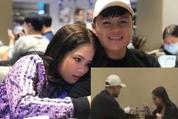 Lộ clip đi ăn với Nhật Lê, Quang Hải bị soi đội cùng chiếc mũ trong bức ảnh tình tứ bên bạn gái mới