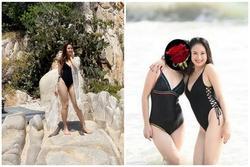 Khoảnh khắc diện bikini hiếm gặp của diễn viên Hồng Diễm