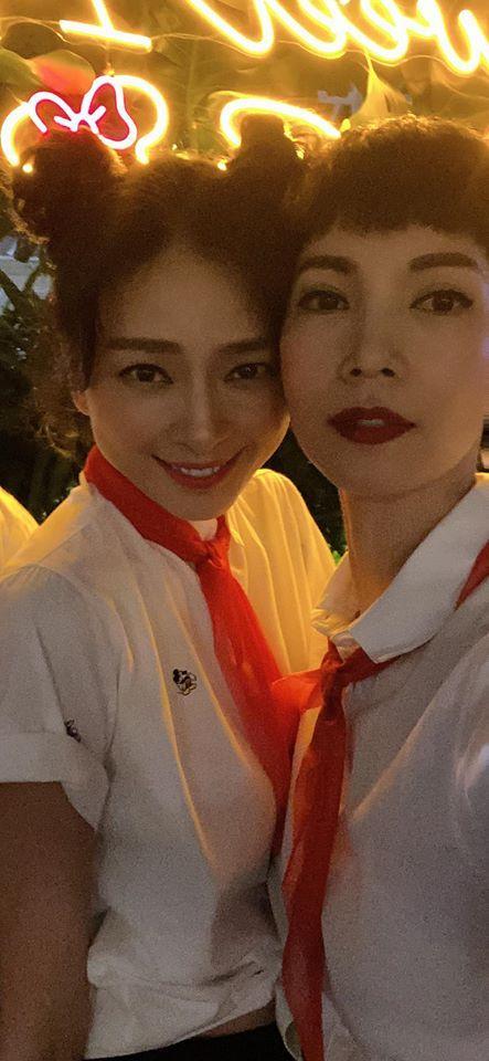 QUÁ LẦY: Xuân Lan rủ Jun Phạm mặc áo trắng, đeo khăn đỏ mừng sinh nhật Ngô Thanh Vân-4