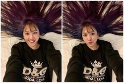 Hari Won khiến fan bất ngờ khi chơi hẳn tóc ombre tông tím lịm 'chất hơn nước cất'