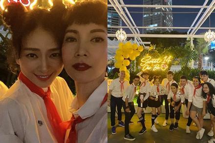 QUÁ LẦY: Xuân Lan rủ Jun Phạm mặc áo trắng, đeo khăn đỏ mừng sinh nhật Ngô Thanh Vân