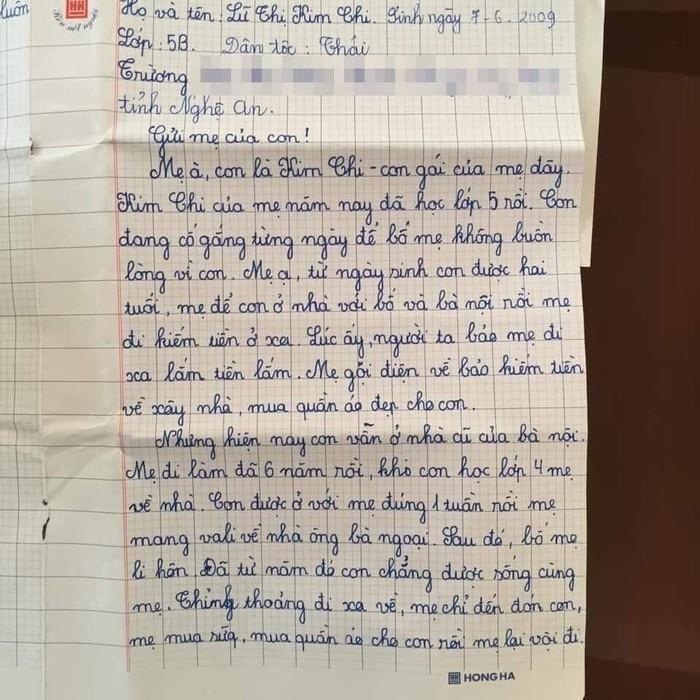 Mẹ lấy chồng xa, con gái 10 tuổi viết thư thương nhớ đọc mà nước mắt không ngừng rơi-2