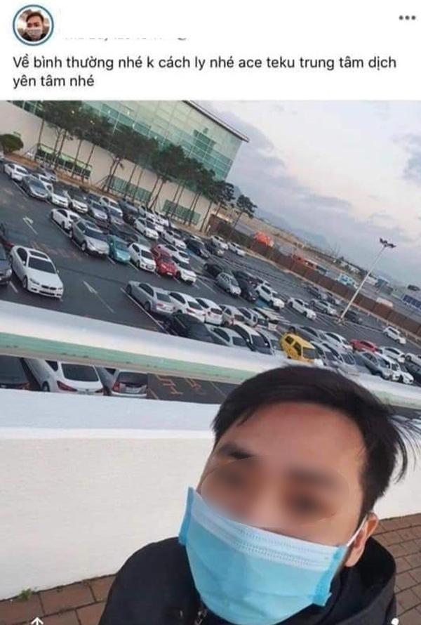 Thêm một người trở về từ Hàn Quốc bị cưỡng chế cách ly vì trốn tránh, lên mạng dọa cho cả làng bay màu-1