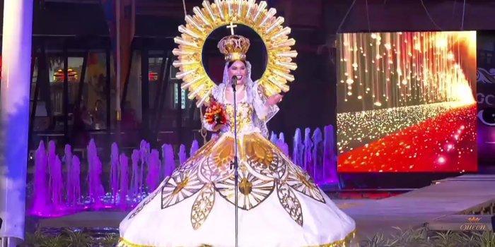 Hoài Sa tỏa sáng rực rỡ với phần thi quốc phục tại Hoa hậu Chuyển giới Quốc tế 2020-9