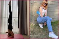 Bạn gái Sơn Tùng M-TP tập tư thế yoga khó mà vẫn bị cư dân mạng bóc mẽ...