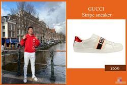 Vừa được đá chính, Văn Hậu đã 'lên đồ' sang chảnh với cả cây Gucci dạo phố Hà Lan
