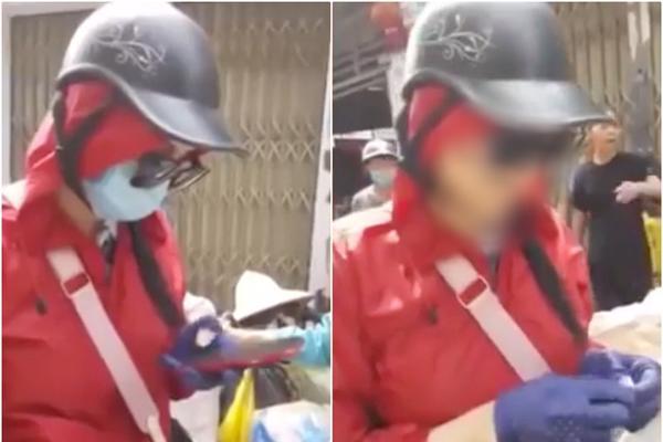 Clip: Cô gái đi SH lì lợm không nhường đường xe rác, bị người dân lột sạch cả kính lẫn khẩu trang-1