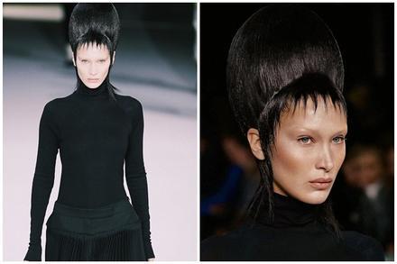 Bella Hadid xấu lạ không nhận ra với tóc búi cao đồ sộ, ăn vận kín mít