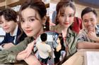 Vừa lộ dấu vết hẹn hò cùng Quốc Trường, Midu lại nhận có tướng phu thê với 2 mỹ nam showbiz Việt