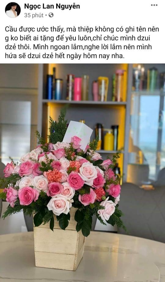 Ngọc Lan được người đàn ông bí ẩn tặng hoa sau 3 tháng công khai ly hôn Thanh Bình-1