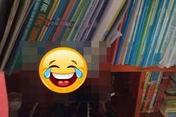 Soạn sách vở để đi học lại, nữ sinh THPT tá hỏa vì vị khách không mời trên giá sách