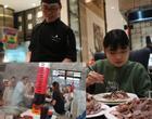 Nhìn 3s đầu tưởng cột nhà trong tiệm lẩu, đến khi ngó kỹ mới biết là tác phẩm của vị khách có sức ăn gấp 10 lần người thường