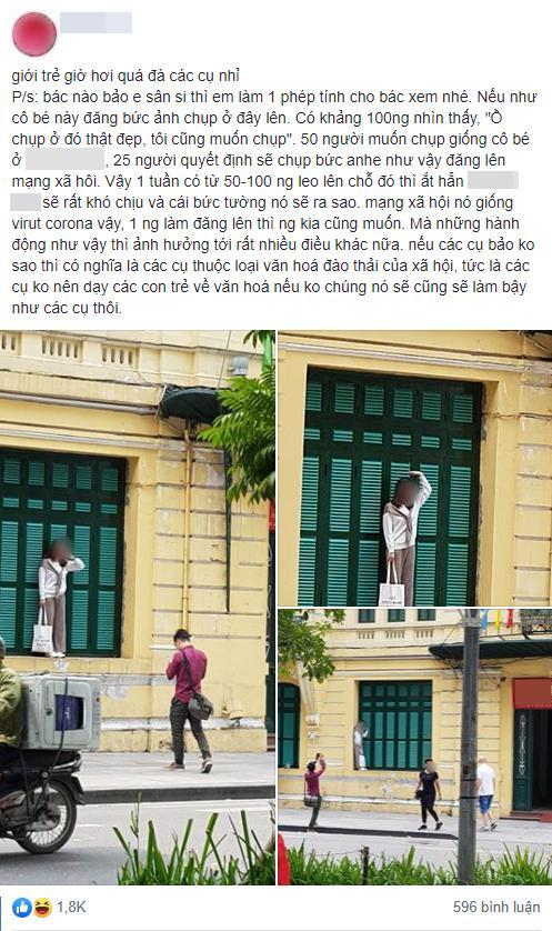 Chỉ trích cô gái trẻ trèo lên cửa sổ nhà cổ ở Hà Nội sống ảo, chủ nhân loạt ảnh bị ném đá ngược-6