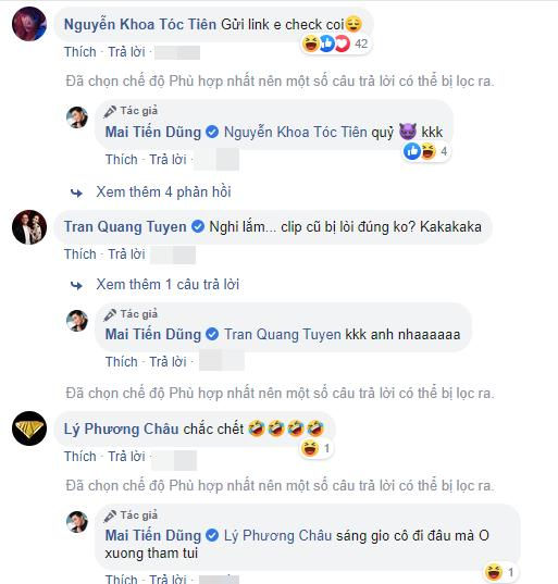 Mai Tiến Dũng bị nghi ngờ lộ clip nóng, Tóc Tiên công khai vào xin link-3