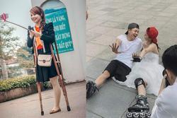 Xôn xao loạt ảnh cưới của cặp đôi khuyết tật, cô dâu hóa ra là cái tên đình đám giới trẻ Việt
