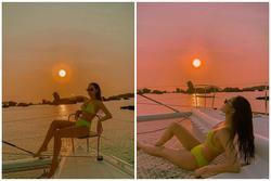 Minh Hằng đăng ảnh bikini giữa mùa dịch, ngâm mình trong nước để da dẻ mặn mòi