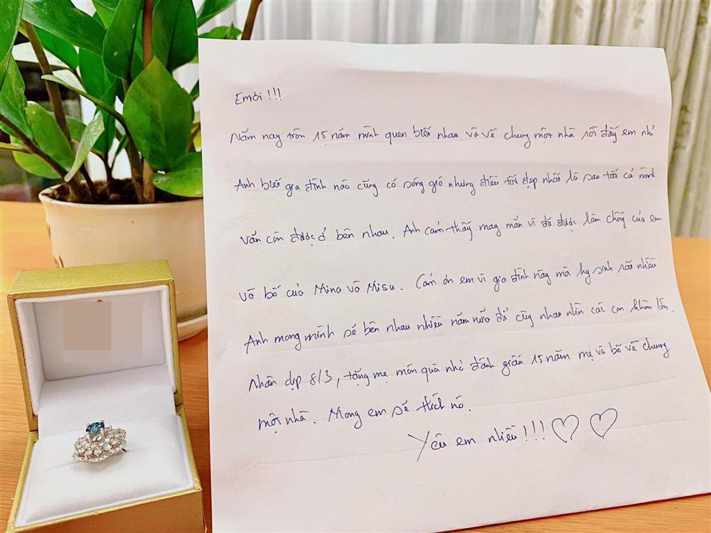 Hồ Hoài Anh viết thư tay gửi Lưu Hương Giang: Cảm ơn em đã vì gia đình này mà hy sinh-1