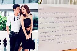 Hồ Hoài Anh viết thư tay gửi Lưu Hương Giang: 'Cảm ơn em đã vì gia đình này mà hy sinh'