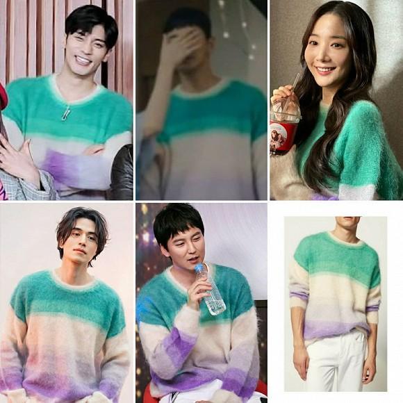Pha đụng hàng bất phân giới tính: Từ Park Min Young đến Lee Dong Wook đều mê mệt chiếc áo màu mè-1