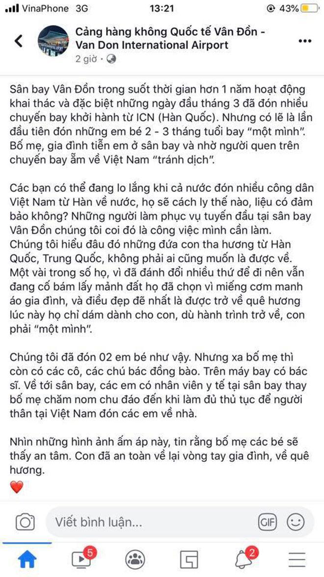 CHUYỆN THẬT KHÓ TIN: Em bé 2 tháng tuổi một mình từ Hàn Quốc về Việt Nam tránh dịch Covid-19-2