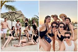Ăn chơi như hội bạn thân Kỳ Duyên: Diện dresscode bikini mà từ mẹ bỉm đến gái xuân đều sexy hết cỡ