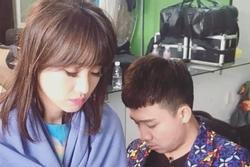 Vợ chồng Trấn Thành - Hari Won bị chụp lén khi đang ngủ gục