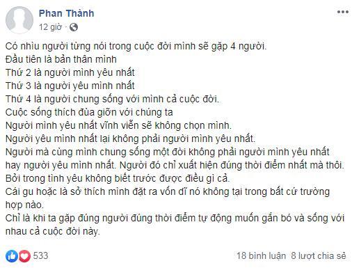 Cứ ngỡ tình đã nhạt, ai ngờ Phan Thành phản ứng trước tin đồn Midu hẹn hò Quốc Trường-4
