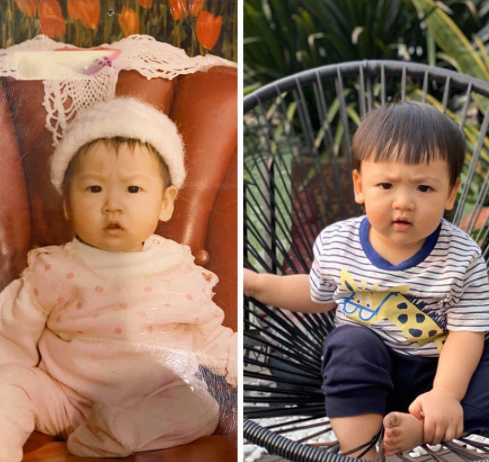 Á hậu Tú Anh chứng minh con trai chuẩn gene mẹ, nhìn thế nào cũng không lệch một ly-1
