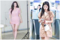 Joy, Jennie khoe thân hình gợi cảm khi diện váy liền bó sát