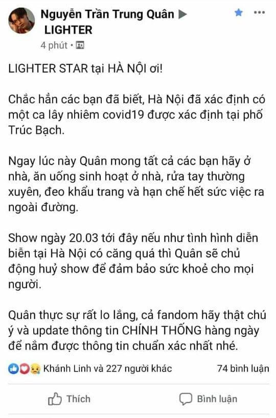 Giữa tâm bão Covid-19, Nguyễn Trần Trung Quân bị chỉ trích khi cầu trời phật cho show ở Hà Nội không bị hủy-3