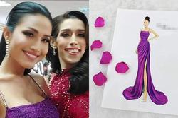Lộ diện đầm dạ hội tuyệt đẹp của Hoài Sa, cực hợp với vương miện Hoa hậu Chuyển giới 2020 tối nay