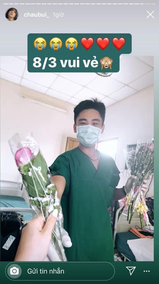 Dù ở trong khu cách ly tập trung, Châu Bùi khoe được bác sĩ đẹp trai tặng hẳn 2 phần quà đặc biệt nhân ngày 8/3-4