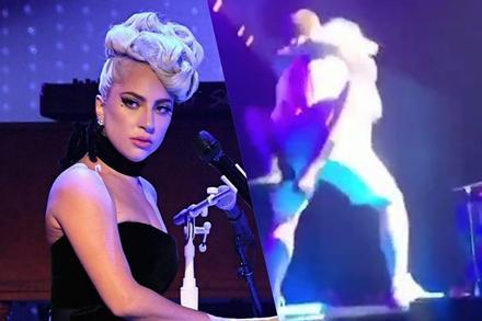 Ngã từ sân khấu xuống đất, nữ ca sĩ vẫn tiếp tục biểu diễn