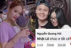 Phản ứng bất ngờ của 'cô chủ tiệm nail' khi Quang Hải công khai nhắn nhủ yêu thương Nhật Lê
