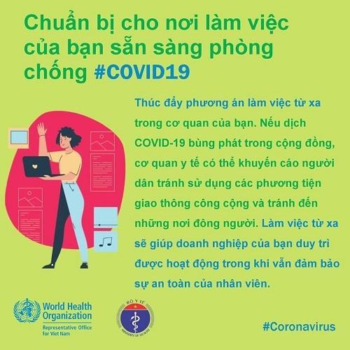 WHO khuyến cáo cách phòng chống Covid-19 tại nơi làm việc-6