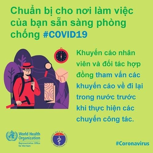 WHO khuyến cáo cách phòng chống Covid-19 tại nơi làm việc-5