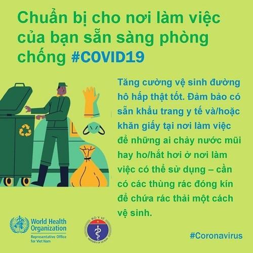 WHO khuyến cáo cách phòng chống Covid-19 tại nơi làm việc-3