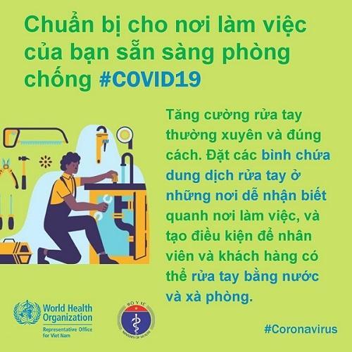 WHO khuyến cáo cách phòng chống Covid-19 tại nơi làm việc-2