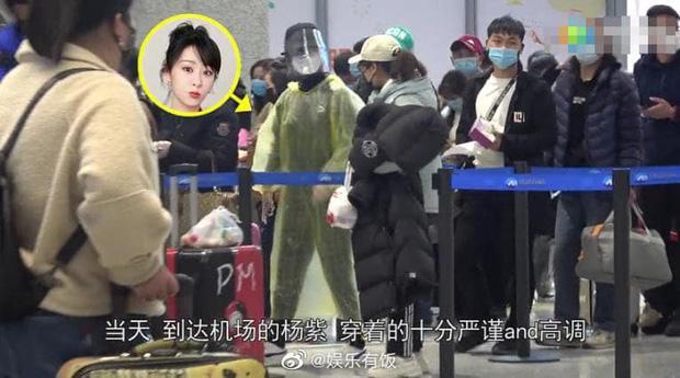 Chẳng cần giữ gìn hình ảnh nghệ sĩ, Dương Tử diện áo mưa, đeo mặt nạ kín mít chống virus corona-6