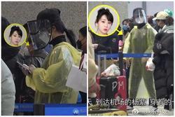 Chẳng cần giữ gìn hình ảnh nghệ sĩ, Dương Tử diện áo mưa, đeo mặt nạ kín mít chống virus corona